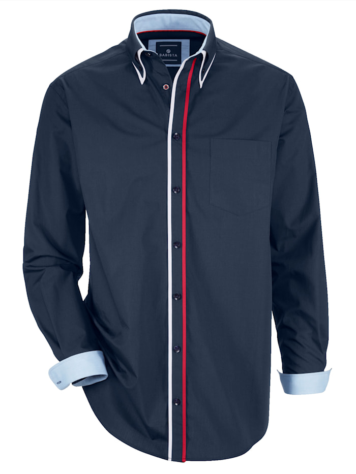 Hemd mit Doppelkragen im Button-Down-Stil