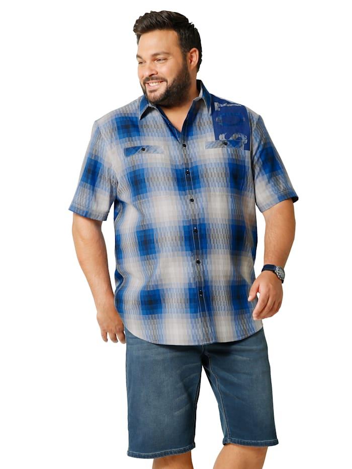 Men Plus Kurzarmhemd mit zwei Brusttaschen, Marineblau