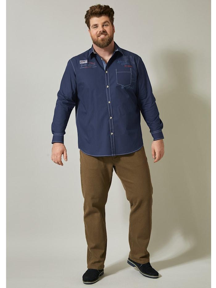 Men Plus Hemd, Marineblau