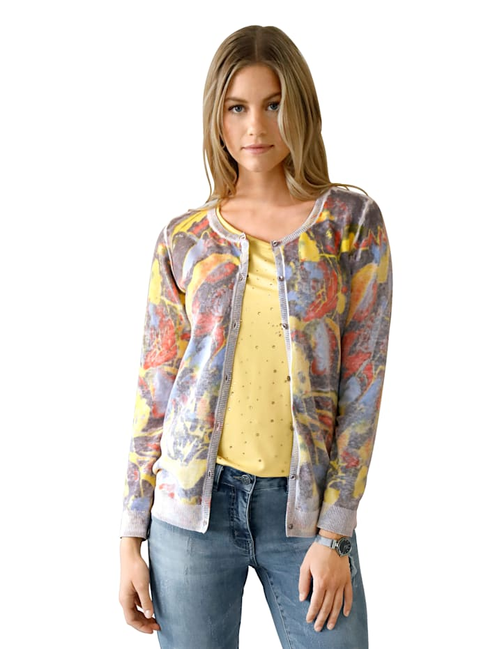 Cardigan im Allover-Print