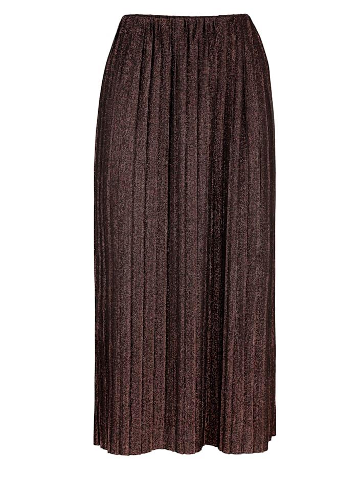 Plisovaná sukně s metalickými vlákny