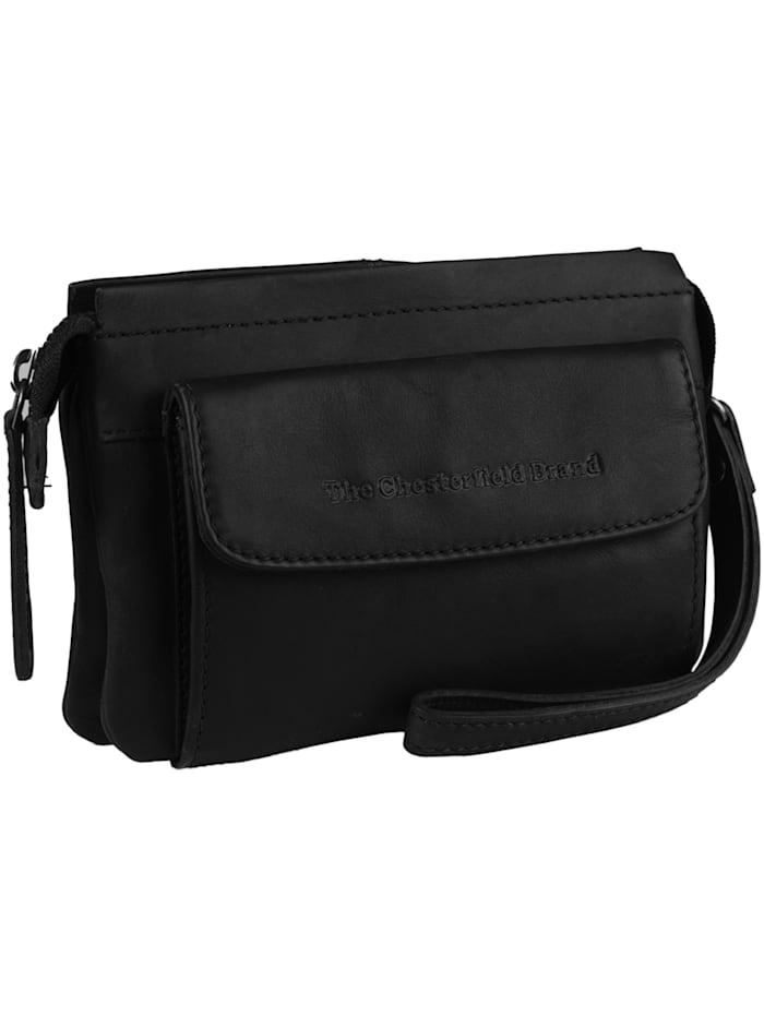 The Chesterfield Brand Black Label Kayleigh Schultertasche Leder 18 cm, schwarz