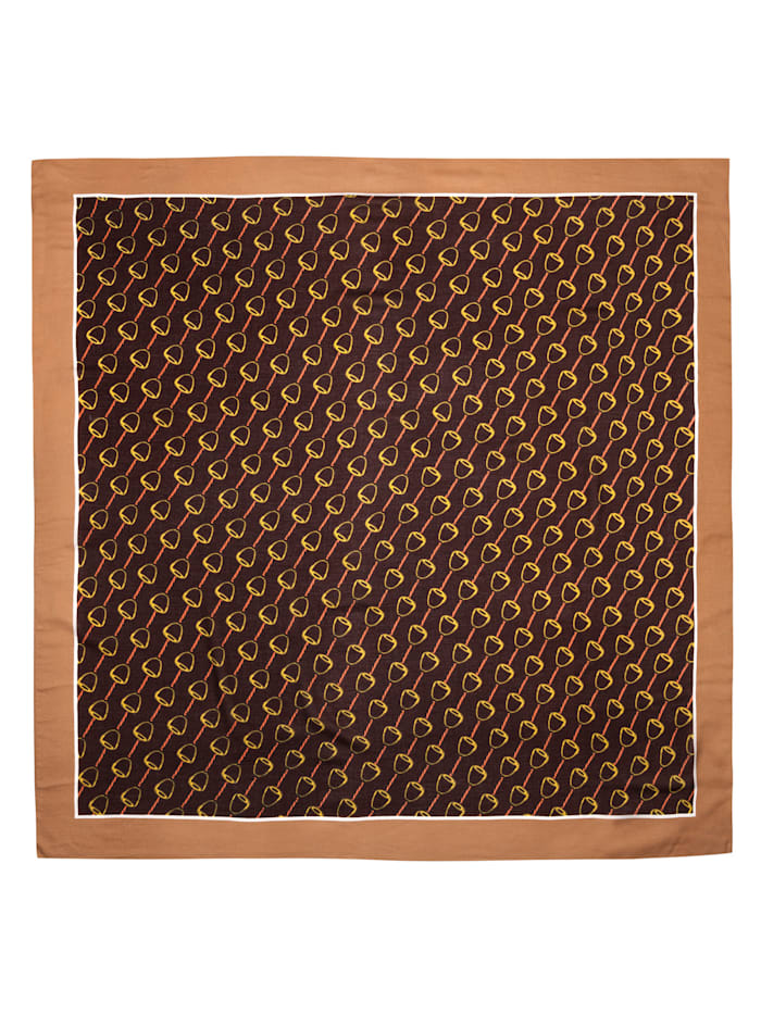 Softes Viskose-Tuch mit klassischem Reitsport-Motiv
