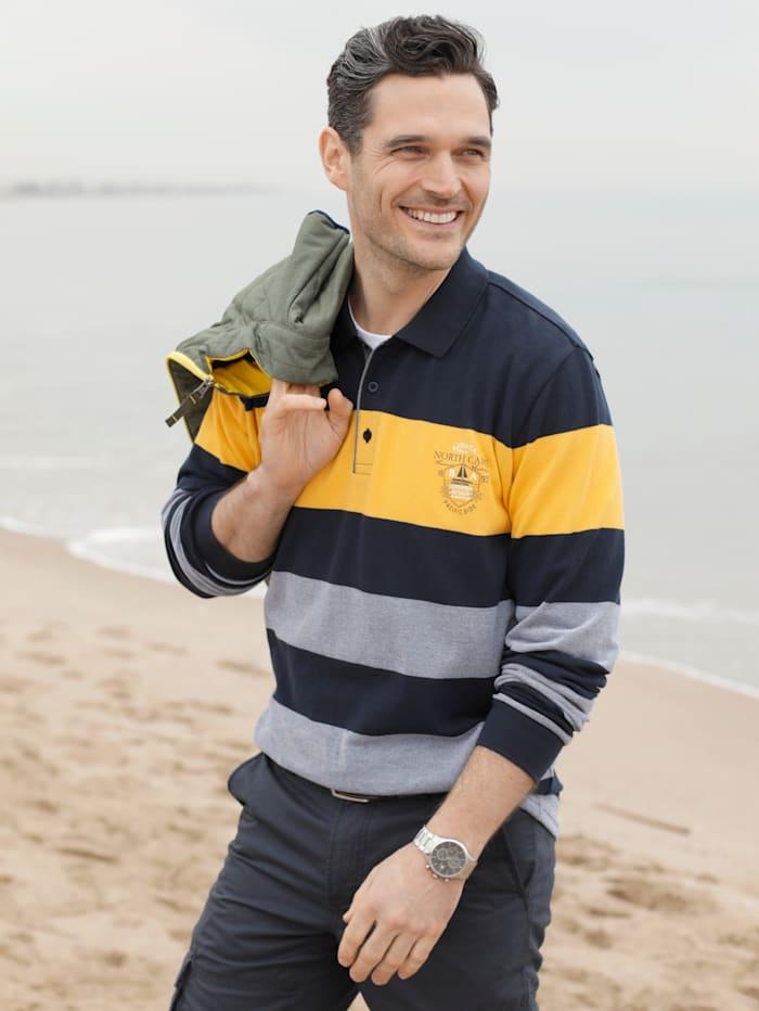 BABISTA Sweatshirt in leichter Piqué-Qualität, Marineblau/Gelb