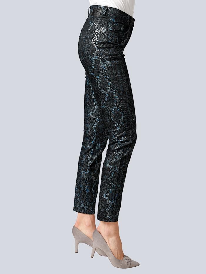 Jeans 'Lea N' im modischen Print