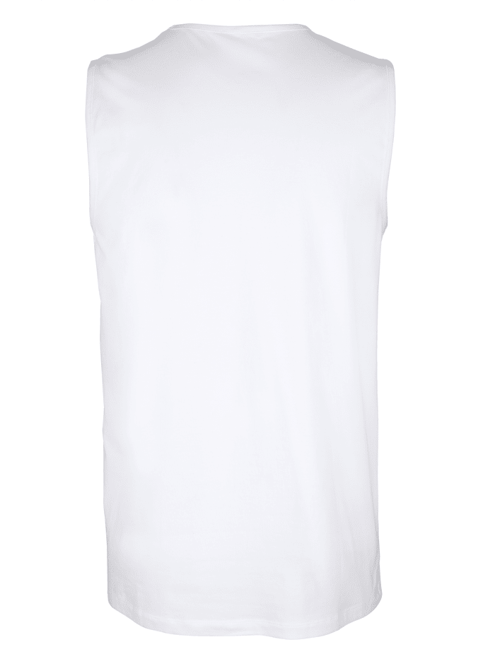 Mouwloze shirts van organic cotton 3 stuks