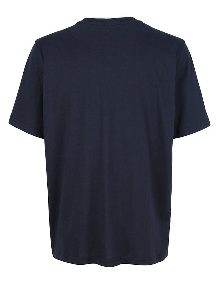 T-shirt met contrastkleurige details