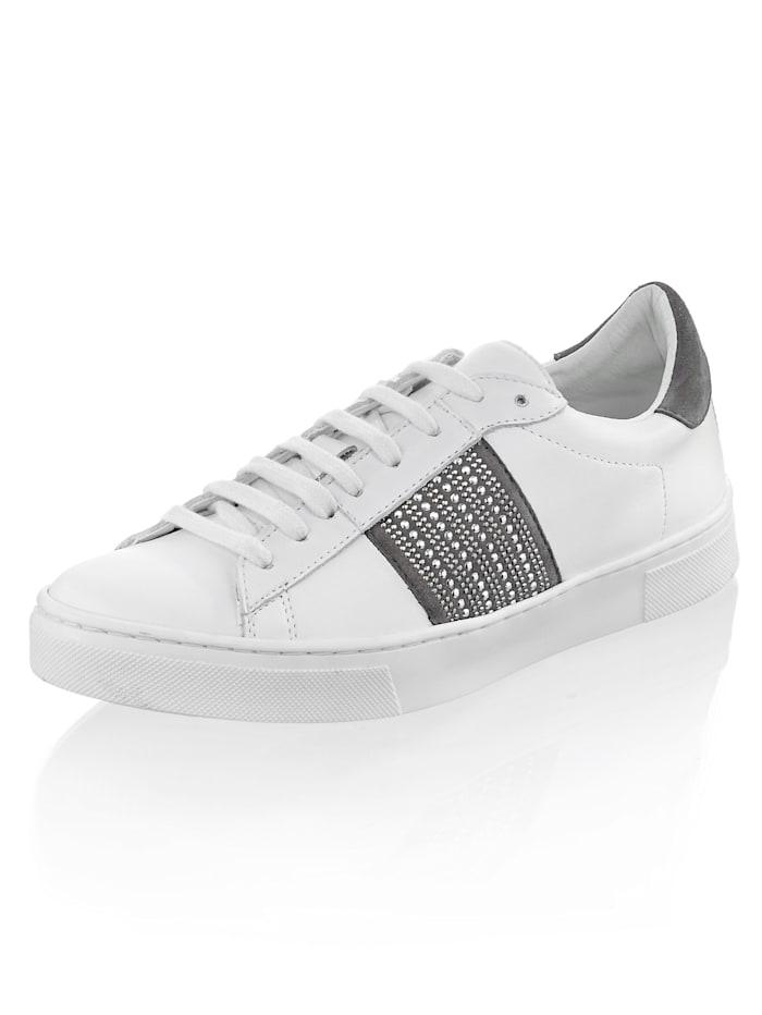 Alba Moda Sneaker aus Ziegenleder, Weiß