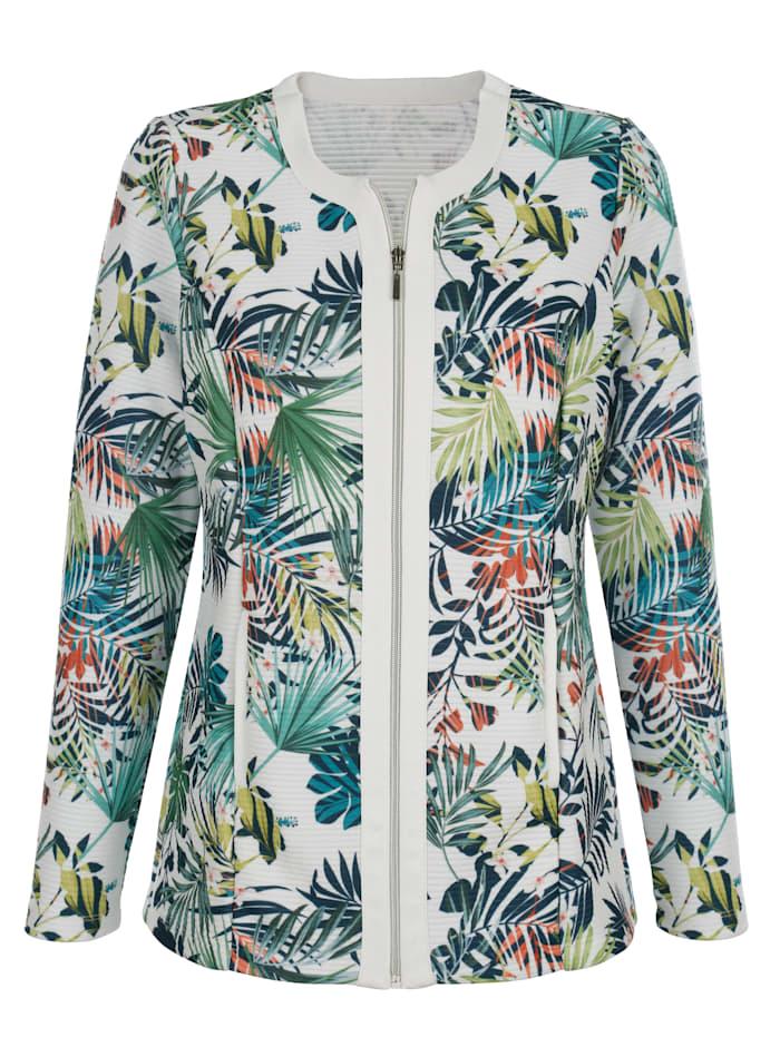 Tričkový kabátek s módním designem potisku