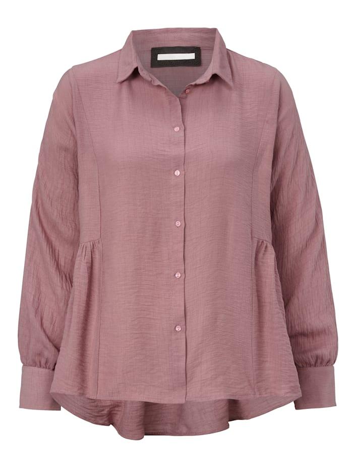 REKEN MAAR Bluse mit seitlicher Raffung in der Taille, Altrosa