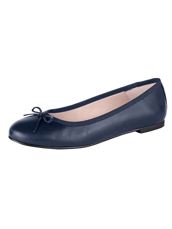 Ballet Court shoes made from soft Nappa leather, Dark Blue