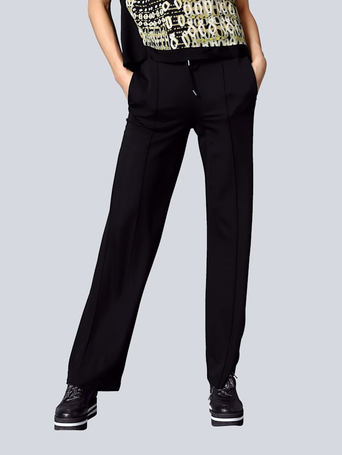 MARGITTES Hose in modisch weiter Form, Schwarz