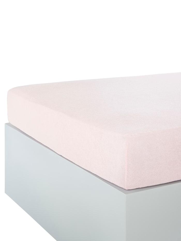 Webschatz Muotoonommeltu joustolakana froteeta, roosa