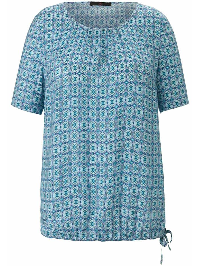Anna Aura Kurzarmbluse Bluse zum Schlupfen, bleu/multicolor