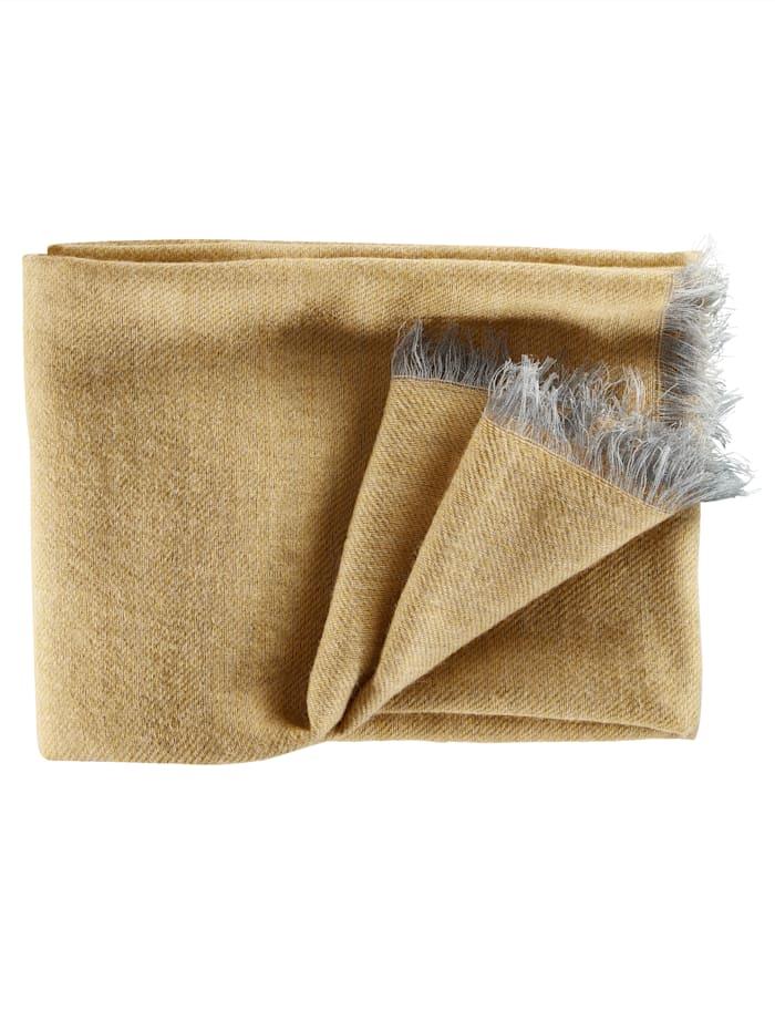 BABISTA Sjaal met wol, geel