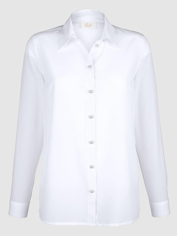 Bluse mit Schmuckknöpfen