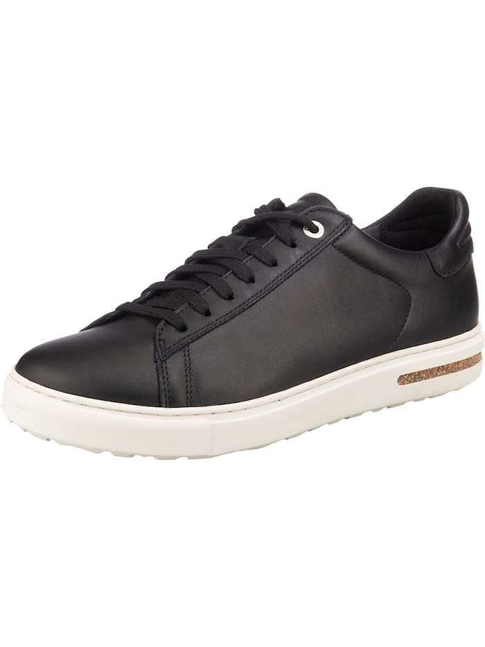 Birkenstock Bend Smooth Leather Leder Sneakers Low schmal, schwarz