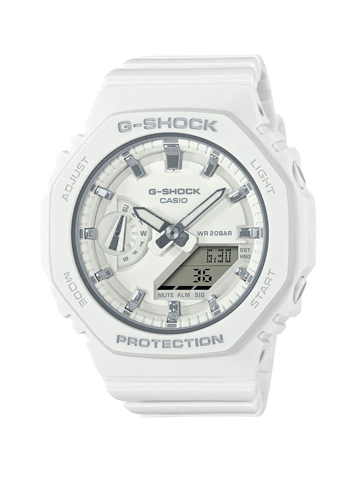 Casio Damenuhr-Chronograph G-Shock GMA-S2100-7AER, Weiß