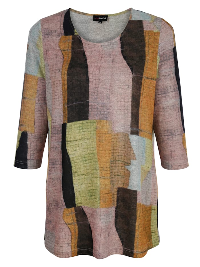 MIAMODA Tričko s grafickým potiskem, Multicolor