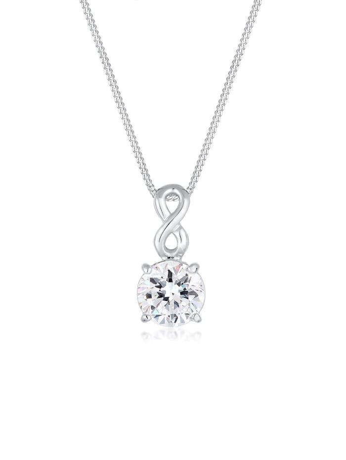 Elli Halskette Infinity Kristall 925 Silber, Silber