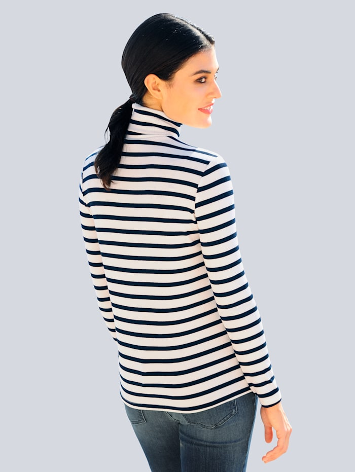 Rollkragenshirt in trageangenehmer elastischer Jerseyqualität