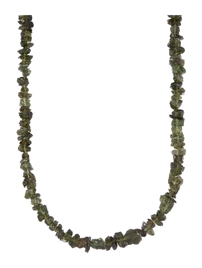 Amara Pierres colorées Collier Moldavite, Vert