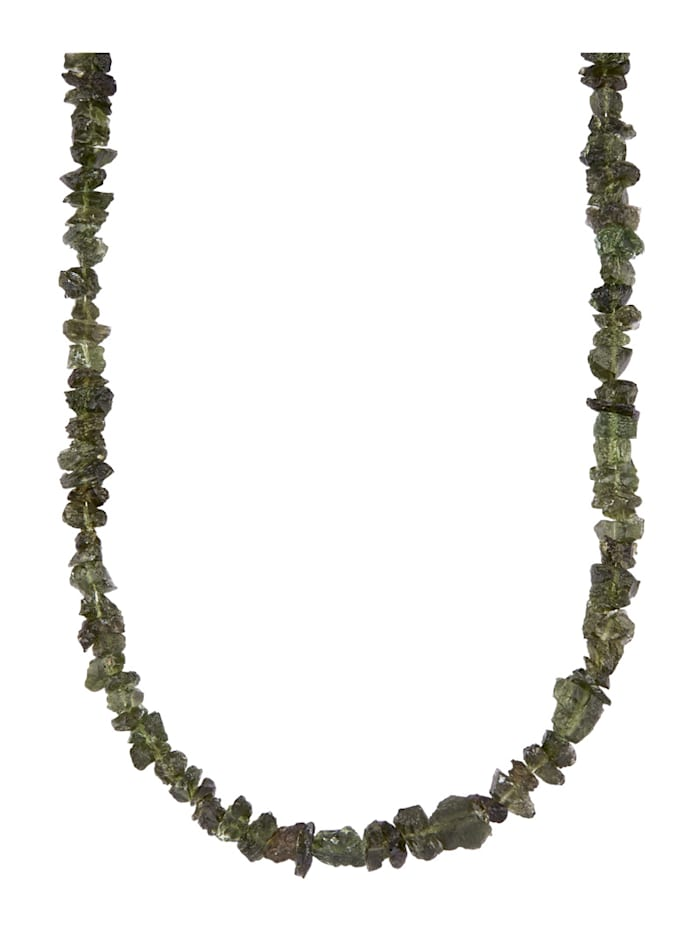 Diemer Farbstein Moldavit-Kette, Grün