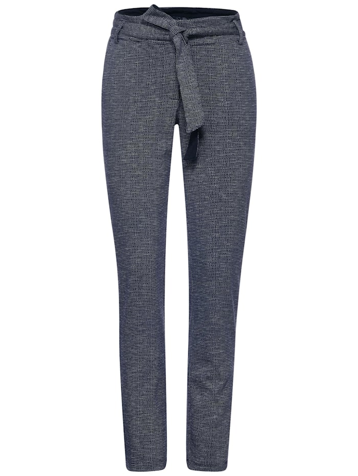 Cecil Casual Fit Hose in Inch 30, deep blue