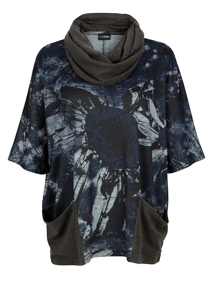 Set: Shirt&Schal mit praktischen Taschen