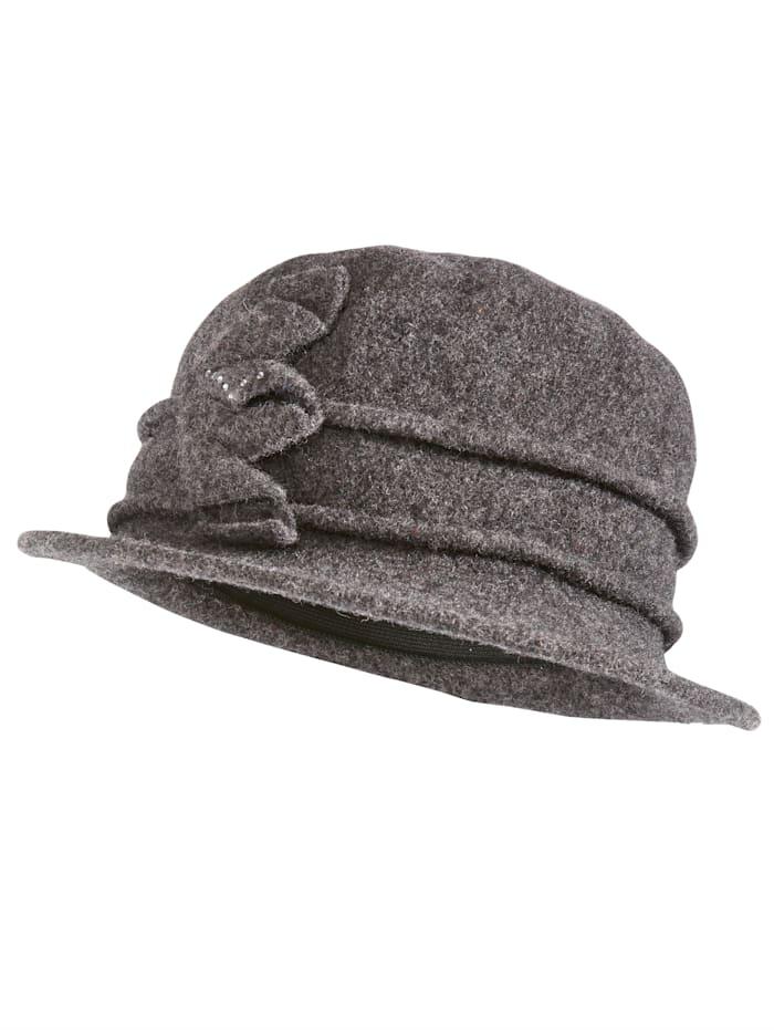 Faustmann Chapeau en laine foulée, Anthracite