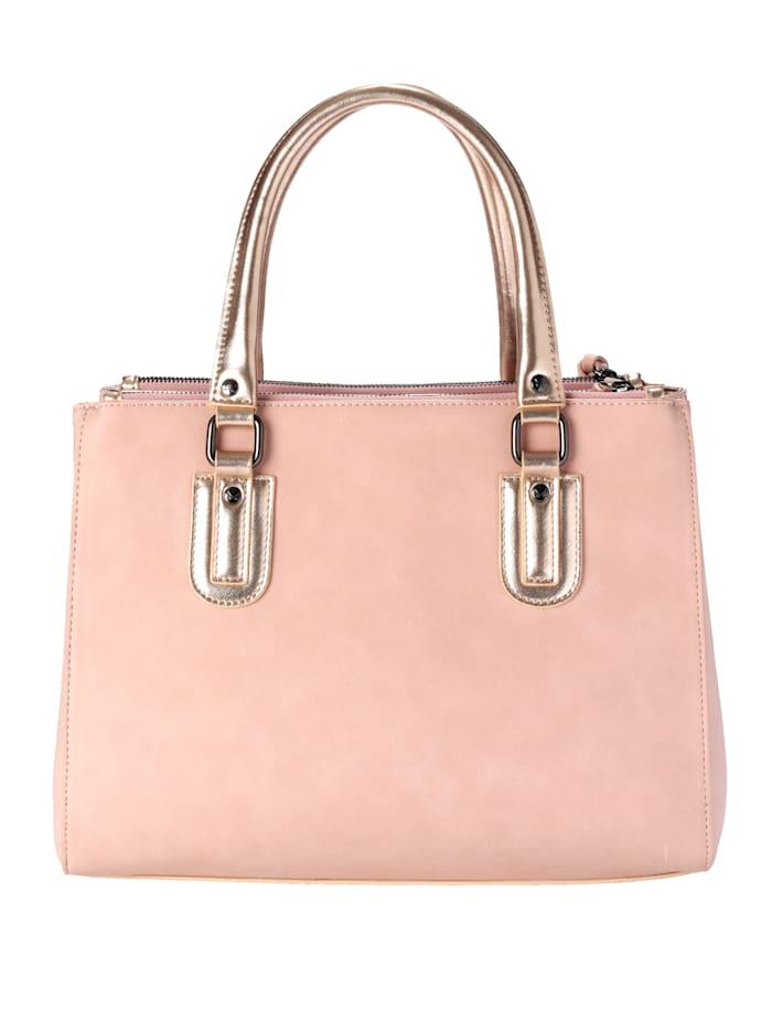 Handväska och avtagbart hänge med nyckelring