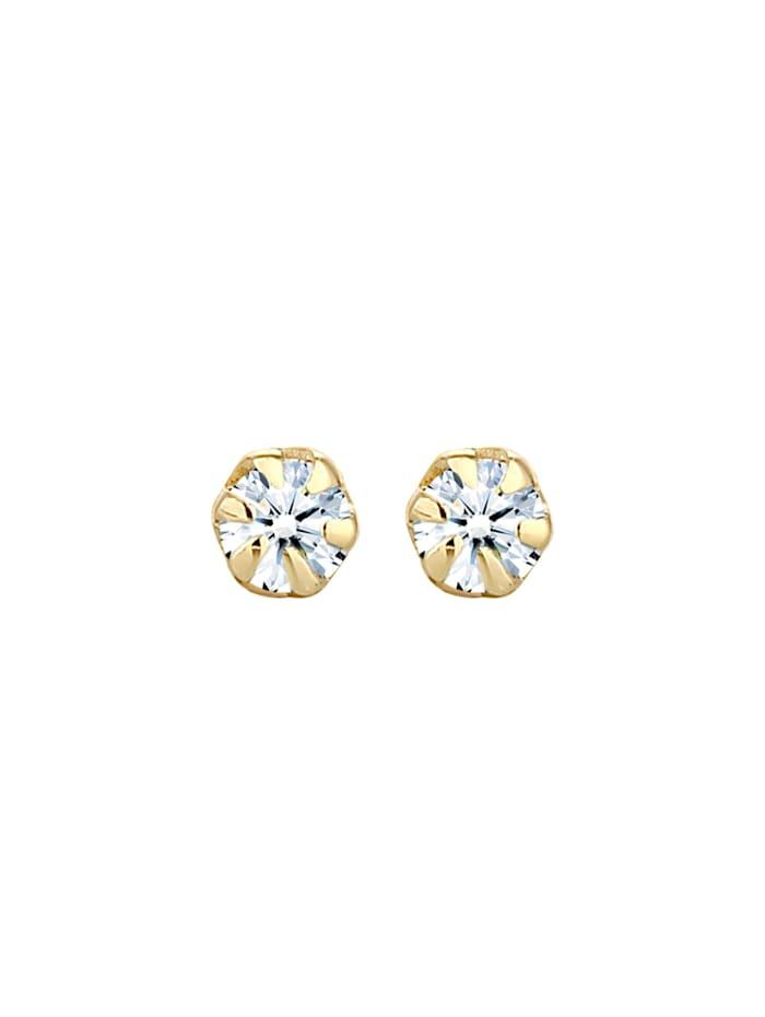 Ohrringe Basic Ohrstecker Diamant (0.06 Ct.) 925 Silber