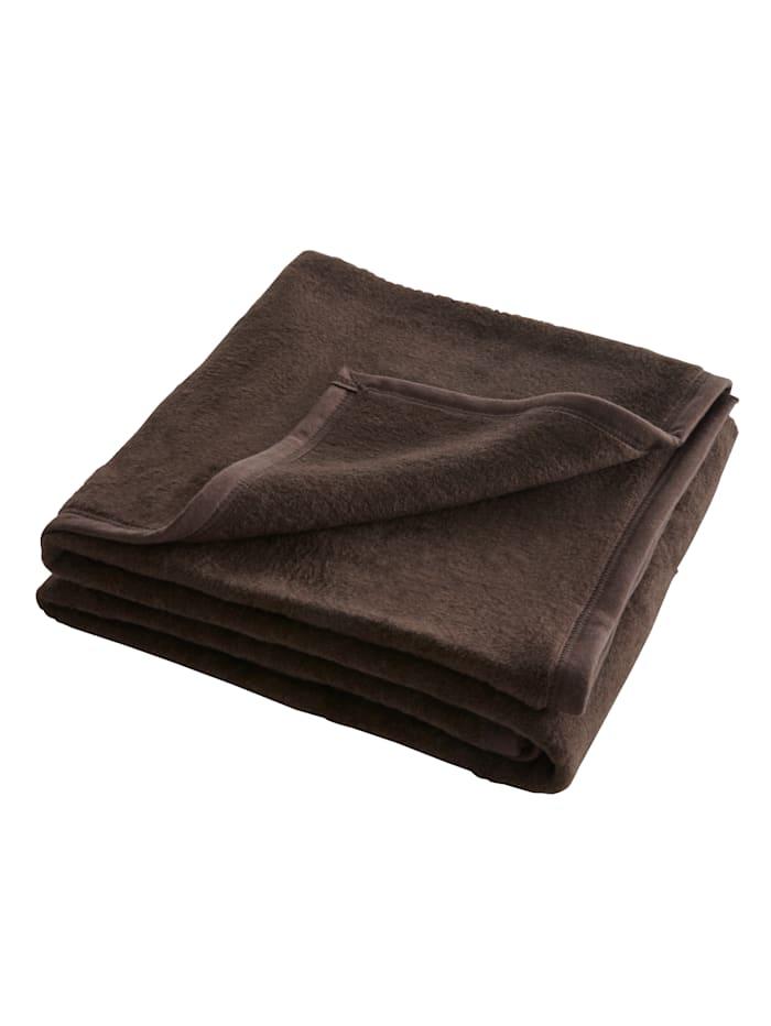 Webschatz Pledd i lekre farger, brun