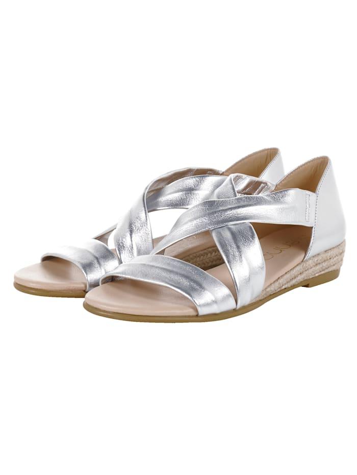 SIENNA Sandale, Silberfarben