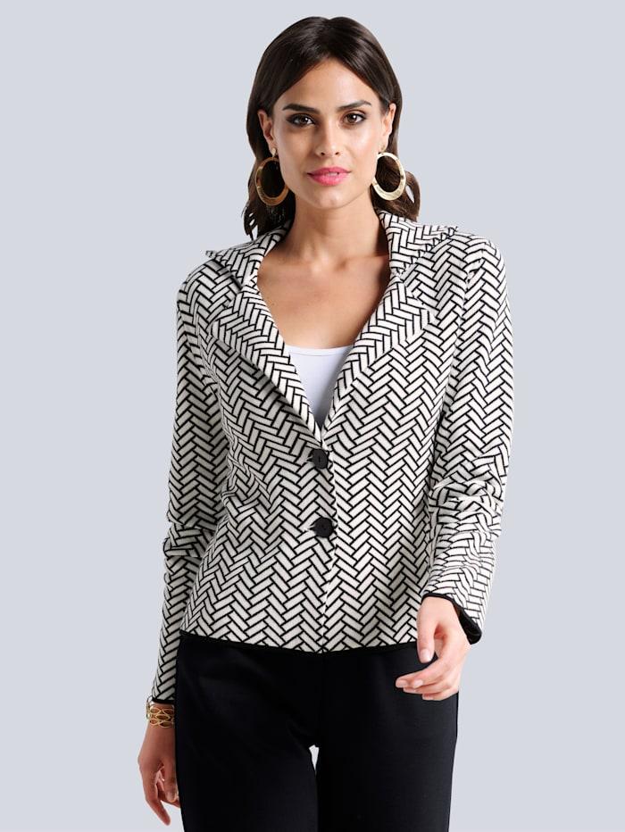 Alba Moda Vest in klassieke kleuren, Offwhite/Zwart