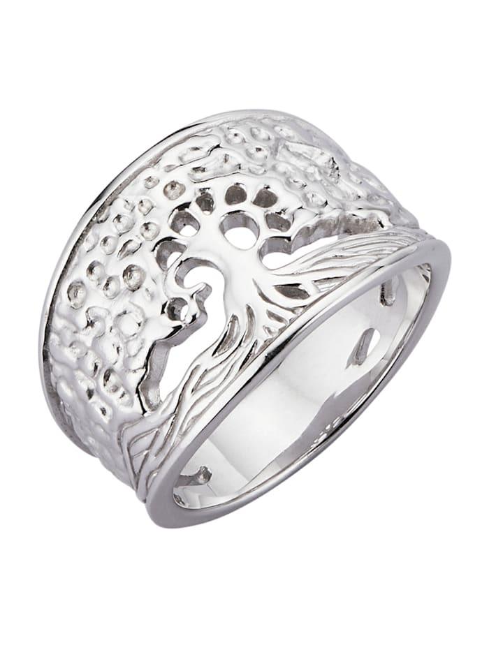 Diemer Silber Lebensbaum-Ring 'Lebensbaum', Silberfarben