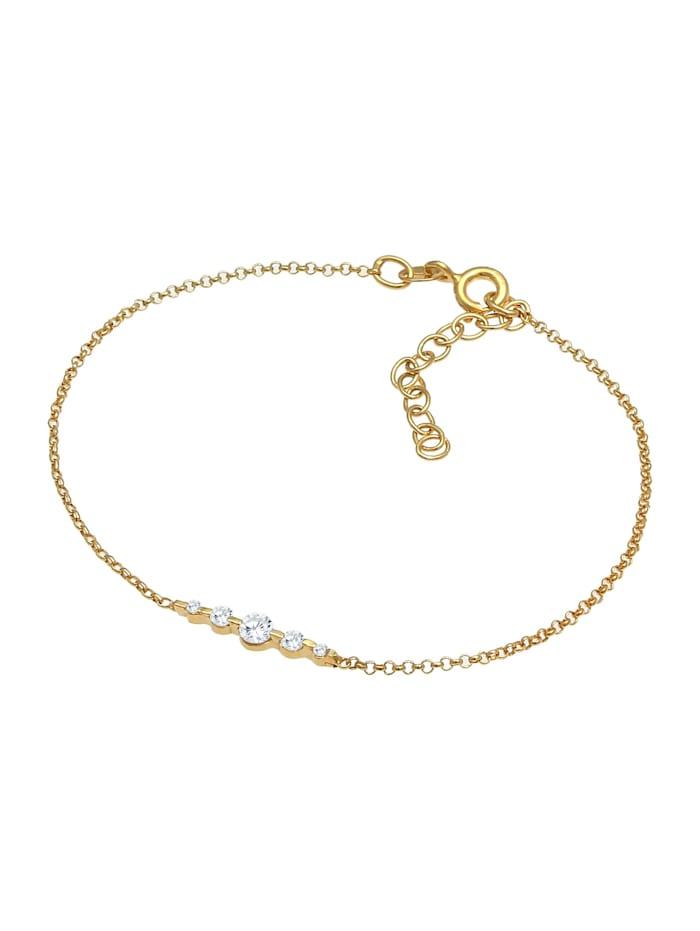 Armband Klassisch Funkelnd Zirkonia Kristalle 925 Silber