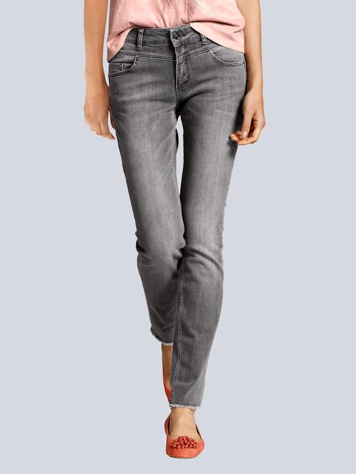 OUI Jeans mit modischen Details, Grau