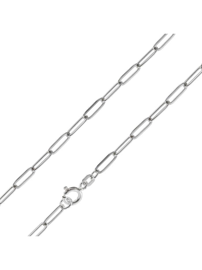 trendor Halskette Fahrradkette 925 Silber 3,5 mm, Silberfarben