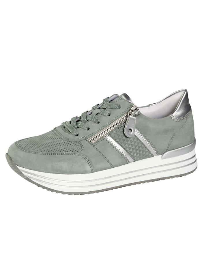 Remonte Sneaker met zomerse perforaties, Mint