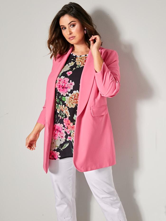 Sara Lindholm Blazer mit schönem Schalkragen, Pink