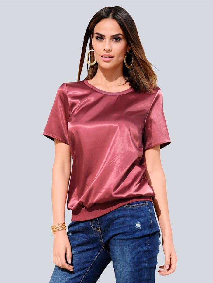 Alba Moda Shirt im Materialmix, Rosenholz