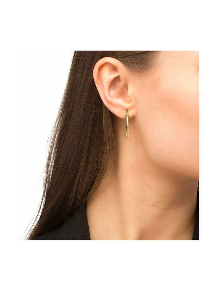Creolen für Damen, Gold 375, 28 mm