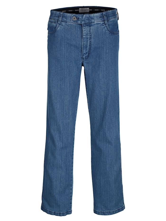 Roger Kent Swingpocket Jeans mit Comfort-Innendehnbund, Blue stone