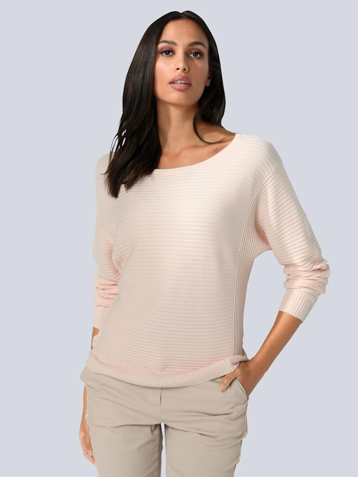 Alba Moda Pullover in tollem Strukturstrick, Off-white
