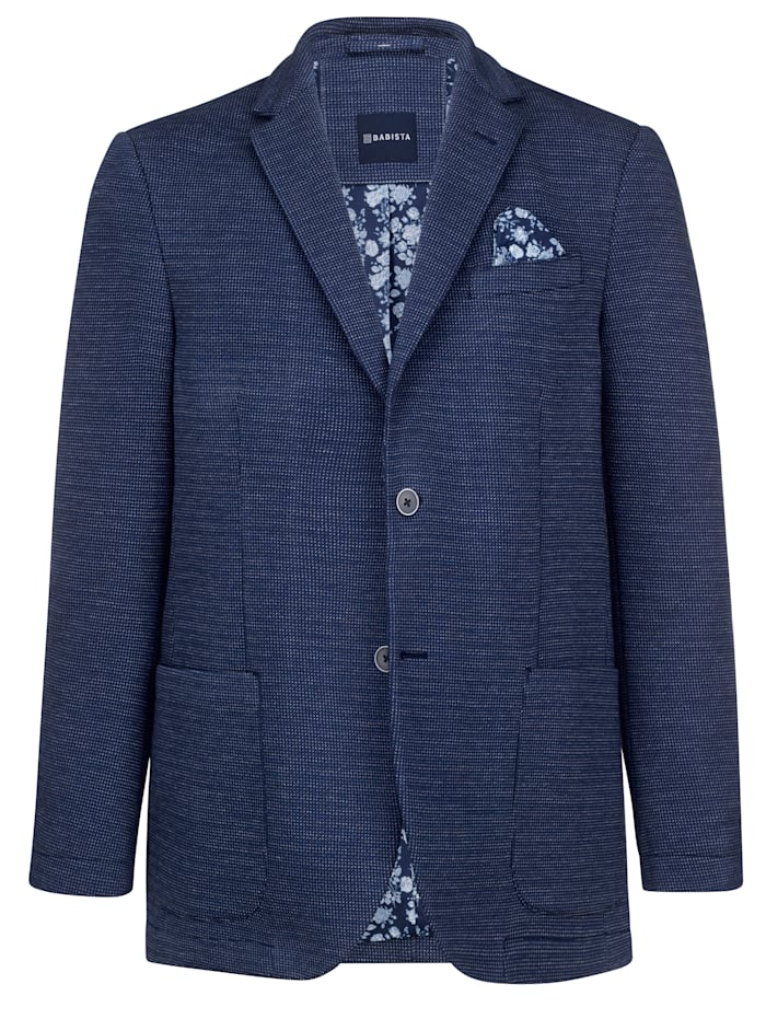 BABISTA Jerseysakko mit praktischen Innentaschen, Blau