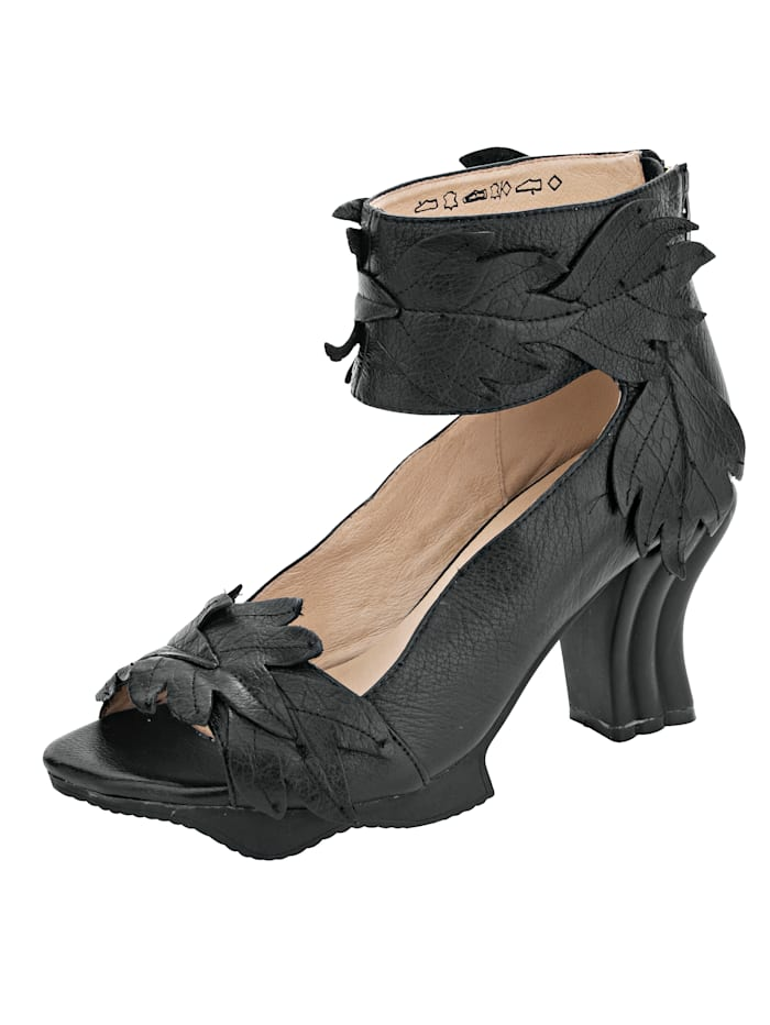 Platform Sandals with zip on the heel
