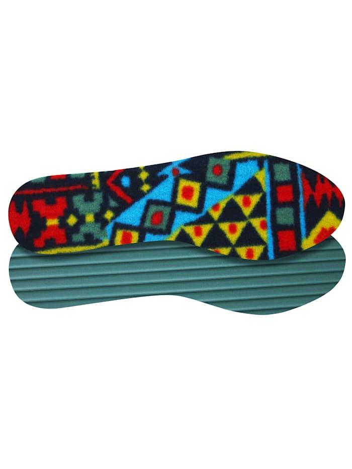 FußGut Thermo-Fleece-Schuheinlagen 2 Paar, Multicolor