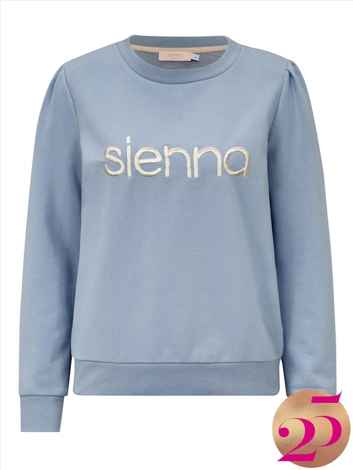 SIENNA Sweatshirt mit Stickerei, Jubiläumskollektion, Eisblau