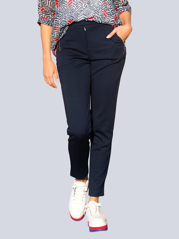 Alba Moda Hose aus konfektionierter, elastischer Jerseyqualität, Marineblau
